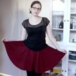 jupe culotte burgundy
